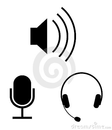 Free Audio Vector Icons Royalty Free Stock Photo - 11037045