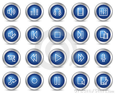 Audio video edit web icons