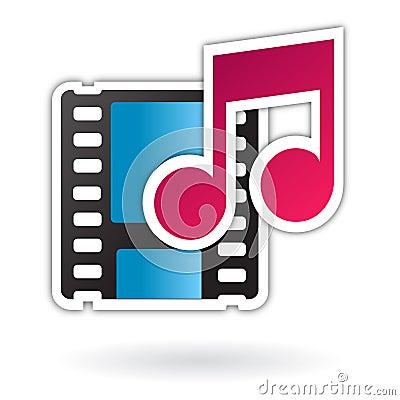 Audio video media file icon