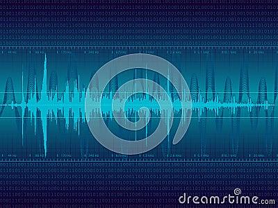 Audio Waveform vector