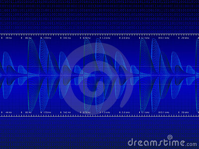 Audio Waveform vector