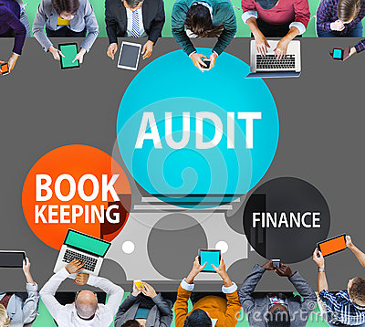 Free Audit Bookkeeping Finance Money Report Concept Stock Photos - 57346013