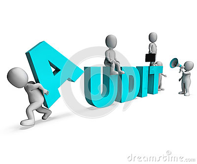 Audit Characters Shows Auditors Auditing Or Scrutiny