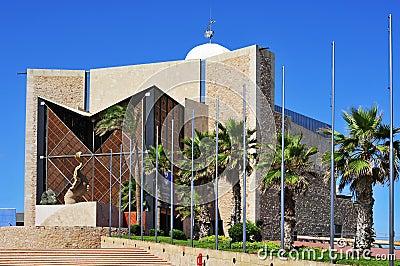 Auditorio Alfredo Kraus in Las Palmas de Gran Canaria, Spain Editorial Photography