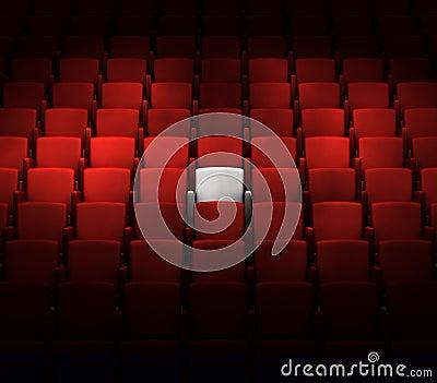 Auditorio con un asiento reservado