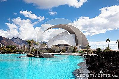 Auditorio de Tenerife in Santa Cruz. Tenerife Editorial Photography