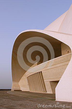 Auditorio de Tenerife - side view Editorial Photography
