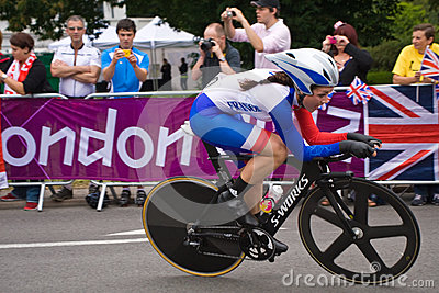 Audrey Cordon in the Olympic Time Trial Editorial Photography