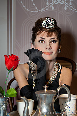 Audrey Hepburn Wax Figure Editorial Photography