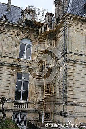 Haus außen mit treppe stockfoto   bild: 33900930