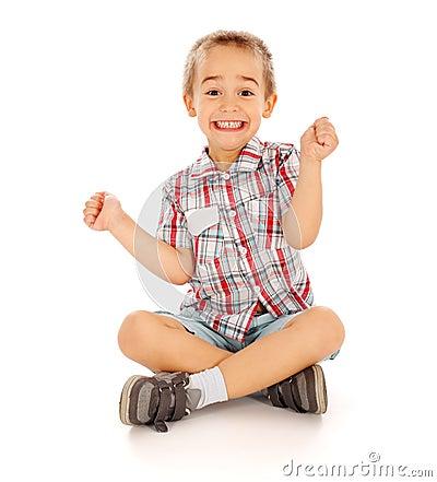 Aufgeregtes Little Boy