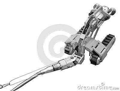 Aufgespürter Roboter