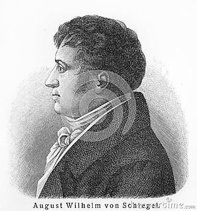August Wilhelm Schlegel Editorial Stock Photo