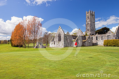 Augustinian Abbey in Adare golf club - Ireland.