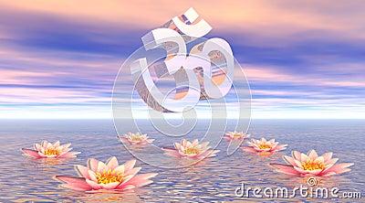 Aum - om upon lotus