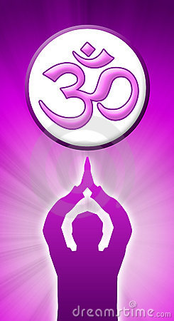 Aum Prayer purple pink