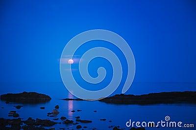 Aumentare della luna piena