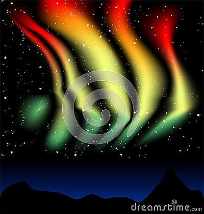 Aurora Borealis dances