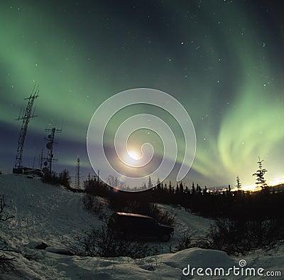 Free Aurora Borealis Display Stock Photography - 2066782