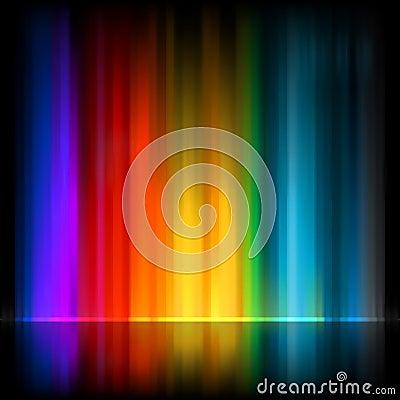 Aurora Borealis. Extracto colorido. EPS 8