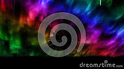 Aurora borealis Hintergrund