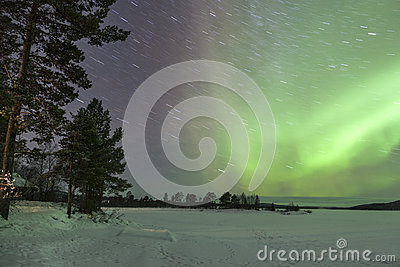 Aurora Borealis in Inari, Lapland