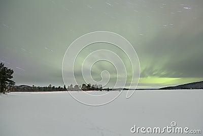 Aurora Borealis in Inari, Lapland, Finland