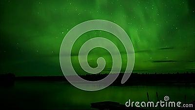 Aurora Borealis, las luces del norte planean el lapso de tiempo del video almacen de video