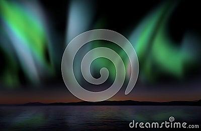 Aurora borealis, nice and powerful