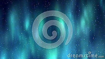 Aurora borealis sobre las estrellas almacen de metraje de vídeo