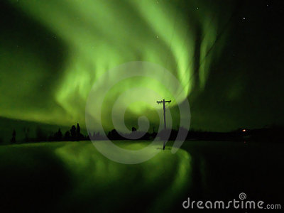 Aurora at Cleary summit