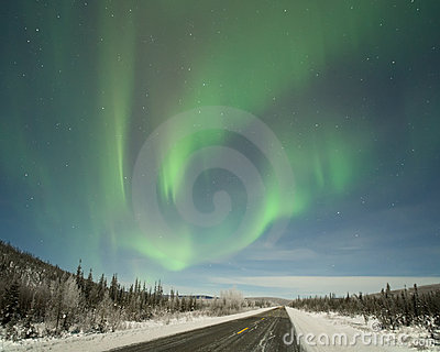 Aurora over Elliot Highway