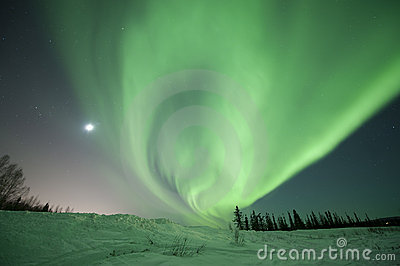 Aurora swirl near Fairbanks