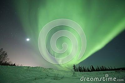 Aurora swirl near Fairbanks