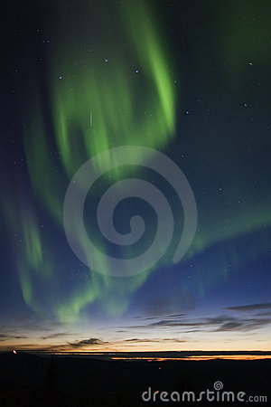 Free Aurora Swirling In The Sky Stock Images - 1164344