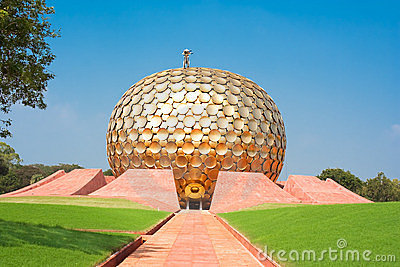Auroville meditation hall. Pondicherry, India