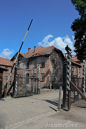 Auschwitz concentration camp in poland Editorial Stock Image