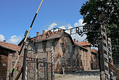 Auschwitz concentration camp in poland Editorial Stock Photo