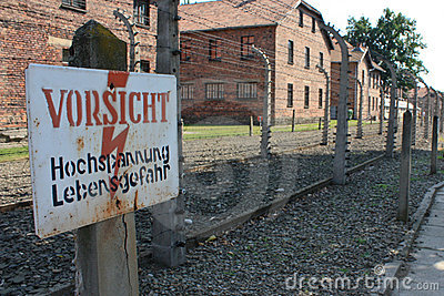 Auschwitz concentration camp in poland Editorial Image