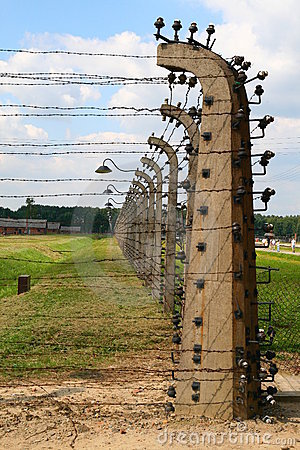 Auschwitz electric pillar Editorial Photo