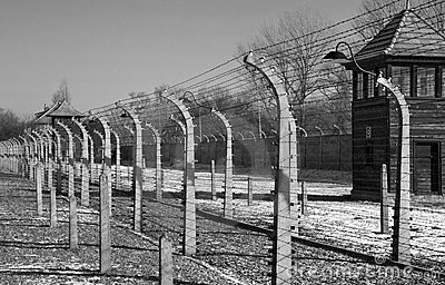 Auschwitz Nazi Concentration Camp - Poland Editorial Stock Photo