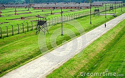 Auschwitz, Poland: Birkenau Concentration Camp Editorial Photography