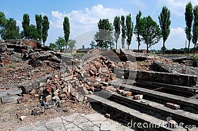 Auschwitz, Poland: Gas Chamber Ruins Editorial Image