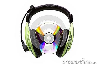 Auscultadores e CD