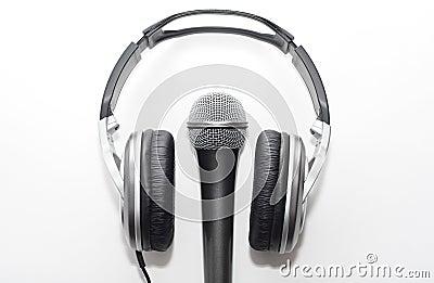 Auscultadores e microfone