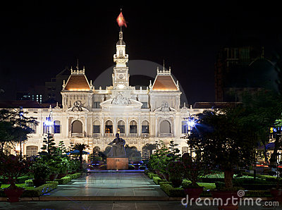 Ausschuss-Gebäude der Leute in Vietnam
