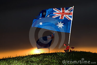 Aussie flag with poppies 5