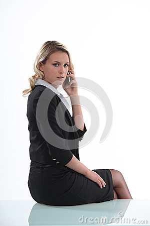 Austere businesswoman