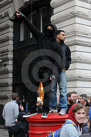 Austerity Protest in London Editorial Photo