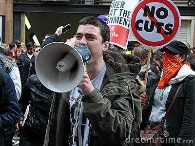 Austerity Protest in London Editorial Image